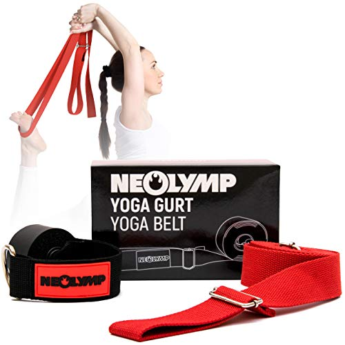 NEOLYMP Premium Yogagurt aus 100% Reiner Bio Baumwolle und hochwertigen Metallverschlüssen für Yoga,...