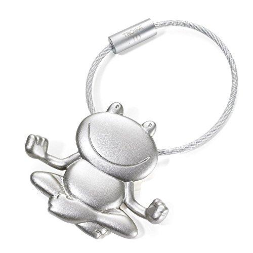 TROIKA Schlüsselanhänger ,,OHMM' - KR11-32/MA - Schlüsselanhänger mit meditierendem Frosch - das Original von TROIKA