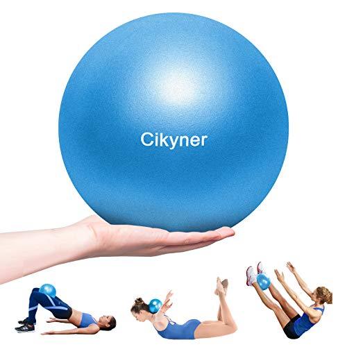 Cikyner Gymnastikball Klein, 23-25 cm Soft Pilates Ball mit aufblasbarem Strohhalm für Pilates, Yoga, Ganzkörpertraining, Verbesserung des Gleichgewichts zu Hause im Fitnessstudio und im Büro