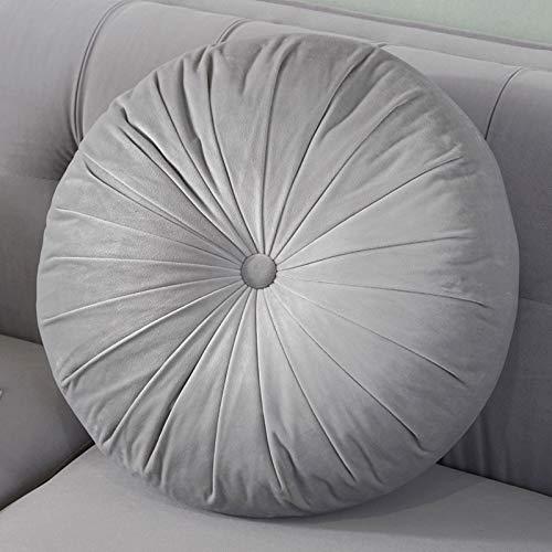 Komfürt Super Soft Meditationskissen Nachhaltiges Sitzkissen Waschbar Atmungsaktiv Bodenkissen Yogakissen Für Yoga Leben Zimmer Balkon-Hellgrau 38cm(15inch)