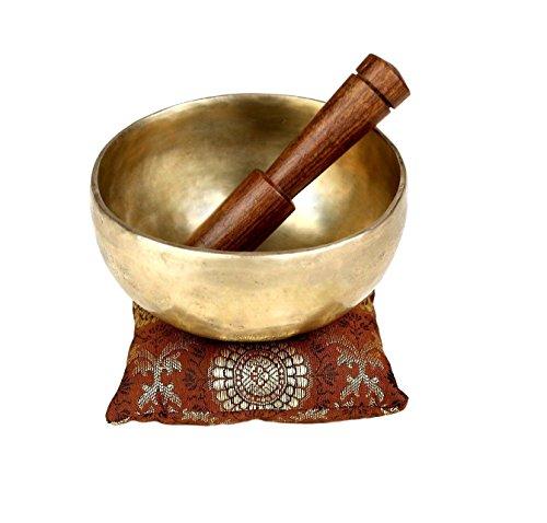 Handgemachte Tibetanische, buddhistische klangschalen aus Metall - 12,7 cm, Meditationsinstrument mit Klöppel...