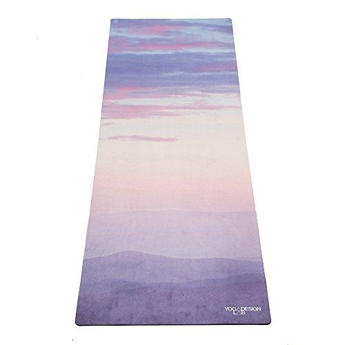 Yoga Design Lab Combo Yogamatte 3,5mm | Rutschfest, Matte/Handtuch, Guter Halt bei viel Schweiß,...