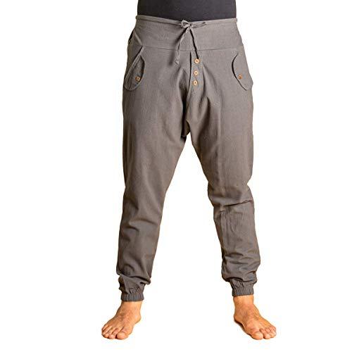 PANASIAM Yogipants, Cotton, Grey, M