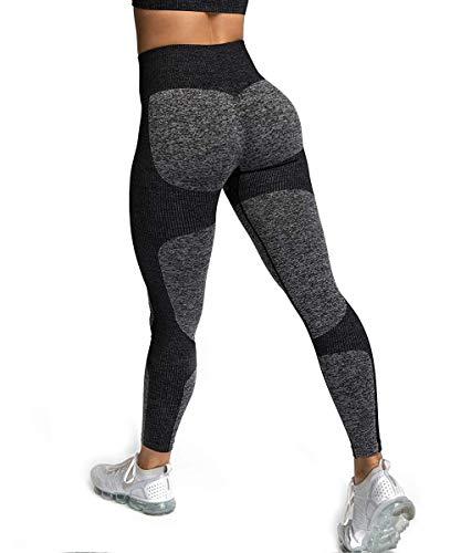 ShinyStar Damen Sport Leggings Lange Blickdicht Yoga Leggings Kompressions Figurformende Sporthose Fitnesshose...
