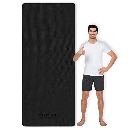 CAMBIVO Sportmatte Fitnessmatte Rutschfest, Yogamatte Extra Lang und Breit (213cm x 81cm x 6mm), Gymnastikmatte Groß aus TPE für Sport, Yoga, Pilates, Gym, Workout, Zuhause