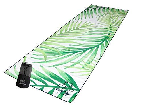 Nikitty Yoga - Reise Yogamatte Microfaser - federleicht, rutschfest, waschbar - travel Yoga mat hotyoga Bikram Fitness Pilates Sport - #yogitravel