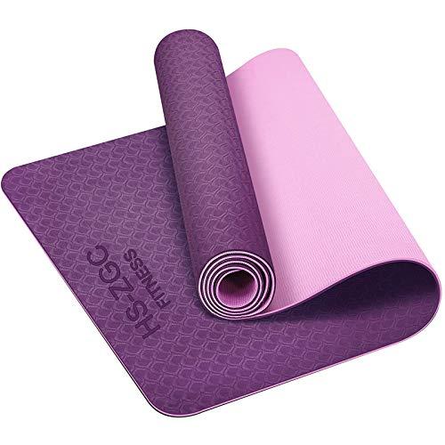 Yogamatte, TPE Yoga Matte Pilatesmatte Gymnastikmatte Rutschfest & Robust - Fitnessmatte Sport und Turnmatte für Gym, Workout und Yoga - Sportmatte für Zuhause