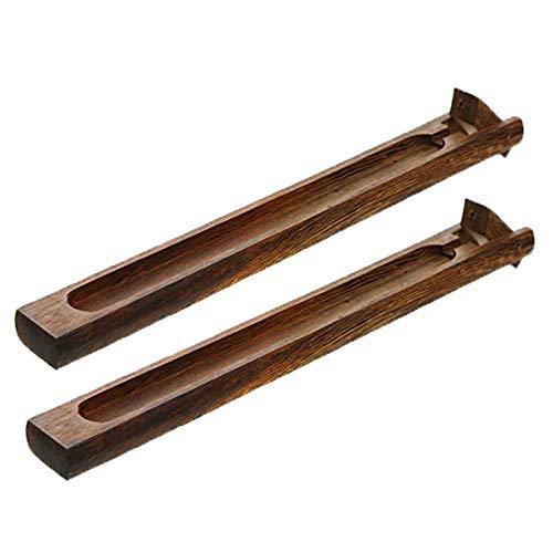 Andrew Peter Bembridge 2 Stück Bambus Holz Räucherstäbchen Halter, Räucherstäbchenständer, braun, Hühnerflügel Holzrahmen, Räucherstäbchen aus Räucherstäbchenholz, können für Geburtstage, Partys