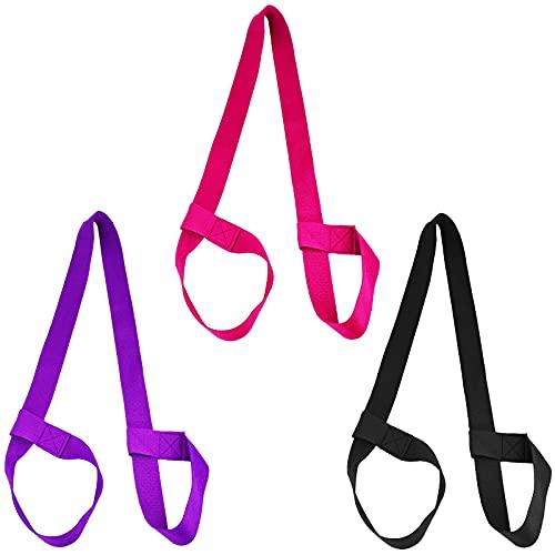 Yogamatte Tragegurt Yogamatten Gurt 3 Stück Yoga Mat Strap Matte Tragegurt Yogamatten Trageband Carrying Strap für alle Yogamatten Größen 【3 verschiedene Farben】