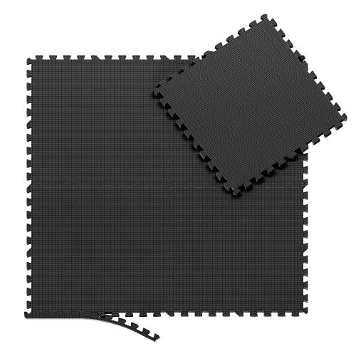 Schutzmatten Set Puzzlematte Bodenschutz Matte - 8 Puzzle Bodenschutzmatten Unterlegmatte | Fitnessmatte Turnmatte Sportmatte Trainingsmatte Boden Schutz, Sport Fitnessraum Keller Garage Fitness Pool
