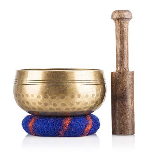 Set Tibetische Klangschalen - Handgefertigt in Nepal für Heilung und Bewusstheit - Meditationsklangschale...