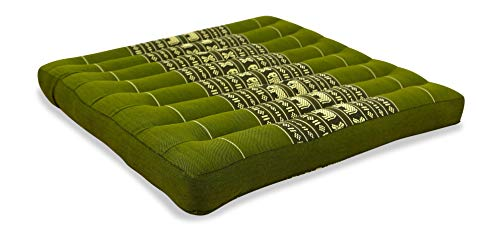 livasia Kapok Sitzkissen 50cm x 50cm, Outdoorkissen der Marke Asia Wohnstudio, Gartenbankauflage, Stuhlauflage, Bodensitzkissen, Meditationskissen