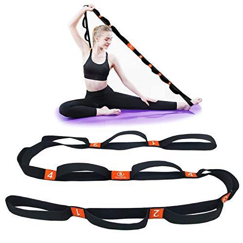 5BILLION Yogagurt - 4cm Breite - Stretchgurt mit Mehreren Grip Loops Tür-Flexibilität - Ideal für Heißes...