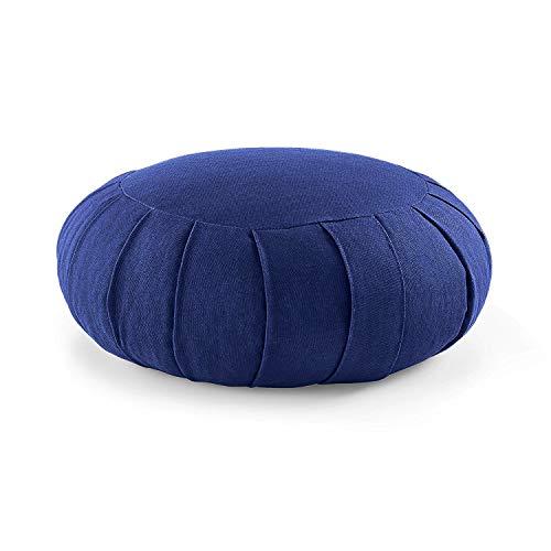 Lotuscrafts Zafu Meditationskissen Yogakissen Zen - Sitzhöhe 15cm - Yoga Zafukissen mit Dinkelfüllung - Bezug aus Bio-Baumwolle - GOTS Zertifiziert