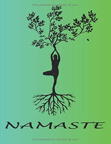 NAMASTE: cuaderno rayado en blanco, para amantes del yoga   zen   meditación   ideal como regalo   Mujeres   Niñas   Adolescentes   Perfecto para escribir