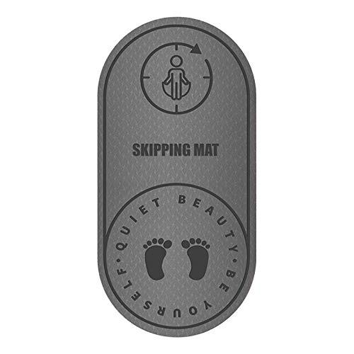 Seilsprungmatte Yogamatte rutschfest Springmatte stumm geräuschdichte Matte 6MM Dicke Sportmatte Anti-Noise-Matte Fitnessmatte Mat Rope Skipping Mat Silent Noise Bodenmatte Haushaltsseil Skipping Mat