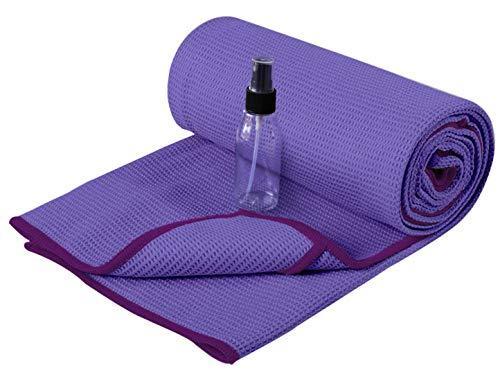 Heathyoga Yoga Handtuch mit hoher Bodenhaftung-Silikonbeschichtung, rutschfest-Wet Grip, 72'x26' (Purple,...