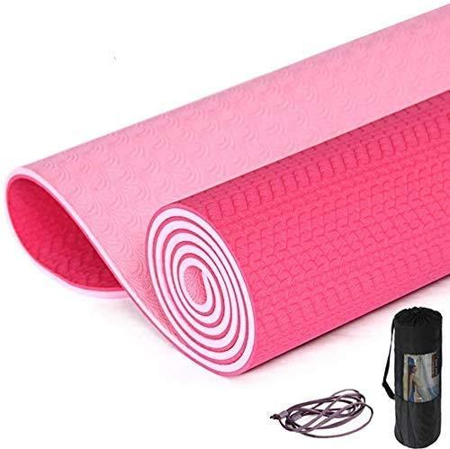 Busirsiz Yoga-Matten 6mm Tasteless Anti-Rutsch-Sit- Fitness Trainingsmatte Strap