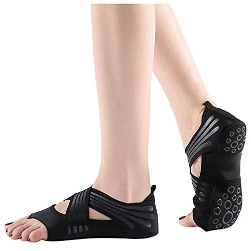 Damen Aerial Pilates-Schuhe mit weicher Sohle für Frauen Fünf-Finger Trainings Yoga Socken Air Pilates Fünf Finger Training mit weicher Sohle Atmungsaktiv Classic Bequem Baumwolle Leichte Socke