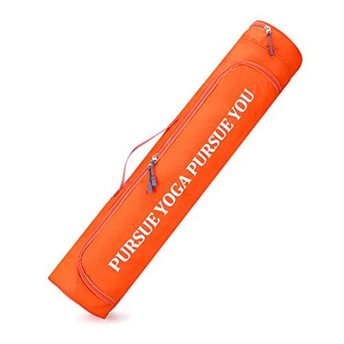 MONLEYTA Neue Dicke Yogamattentasche Gym Fitness Pilate Yogamatte Leichte Tragetasche Yogatasche Fall Orange