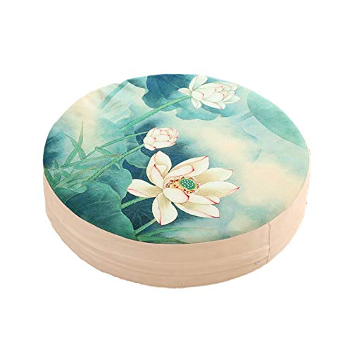 EYLIFE Meditationsmatte, Bodensitzkissen, Yogamatte Nachhaltig, Meditationskissen Rund Lotus, Sitzhöhe 10cm,1