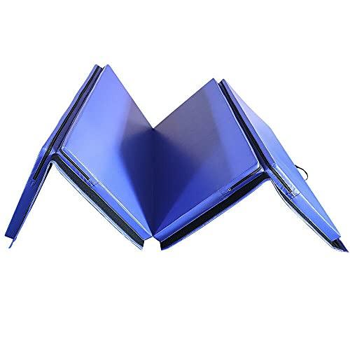 YJYDD Klappbar Turnmatte Gymnastikmatte Weichbodenmatte Yogamatte Tragbar Fitnessmatte (Color : Blau-240 * 120 * 5cm)