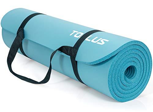 TOPLUS Verdickte Gymnastikmatte Phthalatfreie Yogamatte rutschfest und gelenkschonend Sportmatte für Yoga...