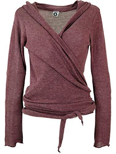 Guru-Shop Wickelshirt, Baumwollstrick Pullover, Wickeljacke, Damen, Altrosa, Baumwolle, Size:M (38), Pullover,...