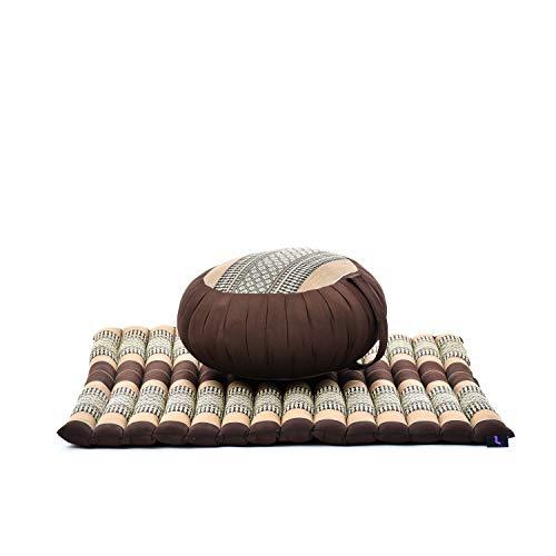 Leewadee Meditationskissen Set Sitzkissen Rund Zafu Yoga Kissen Zabuton Yogakissen Meditationskissen...