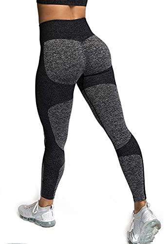 ShinyStar Damen Sport Leggings mit Hohe Taille Blickdicht Fitnesshose Weiche Dehnbare Yogahose mit...