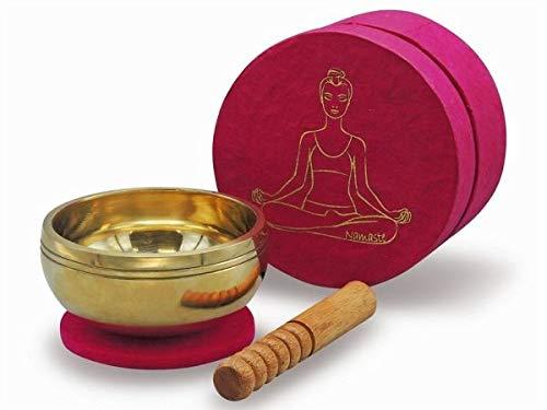 Set in Box pink YOGA 5181: Klangschale edel verpackt, eine schöne und originelle Geschenkidee!
