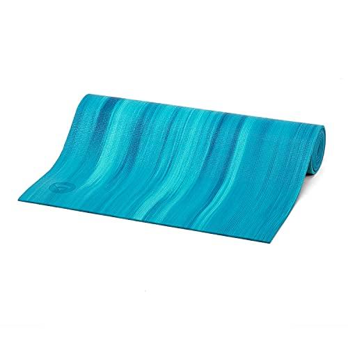 Yogamatte GANGES mit OEKO-TEX, Allround-Matte für Yoga, Gymnastik & Pilates mit guter Dämpfung, griffig und rutschfest in 5 bunten Farben (blau/aqua)