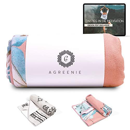 aGreenie Yoga Handtuch Antirutsch - Yogatuch aus Recycelter, Schnelltrocknender Mikrofaser – 183 x 61cm -...