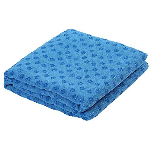 Runfon Hot Yoga Handtuch Nicht Beleg, Mikrofaser-Nicht Beleg-Yoga-matten-Tuch, Exclusive Ecktaschen Design, Ideal Für Hot Yoga, Bikram, Pilates Und Yoga-matten Blau