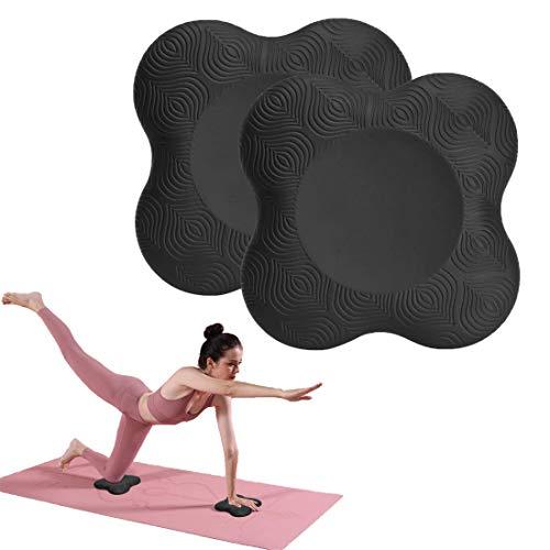 Bestwishing Yoga Kniekissen, 20 x 20 cm Knee-Pads Yoga, 2er Yoga-Kniekissen, Yogaknieschoner, Kniekissen für Yoga, Minimiert und Unterstützt Knie Handgelenke und Ellbogen