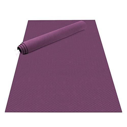 LCZB Große Yoga-Matte, 183 x 121x 0,6 cm Trainingsmatte, Dicke rutschfeste Eco-Freundliche Übungsmatte Mit Tragegurt, für Pilates Yoga, Die Gymnastik Ausdehnt,B