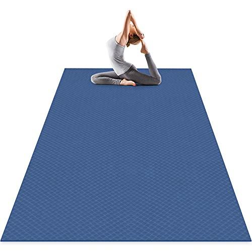 Odoland Yogamatte XXL Gymnastikmatte Breit rutschfest Große Fitnessmatte(183 x 121 x 0,6 cm)für Yoga Pilates Sport Gymnastik Maße Zuhause Violett