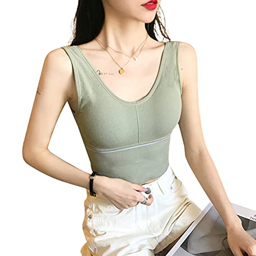 Xingying Damen Tank Top Nahtloser Sport-BH Mit Leichter Unterstützung Atmungsaktives U-Förmiges Leibchen Für Yoga Fitness Laufen
