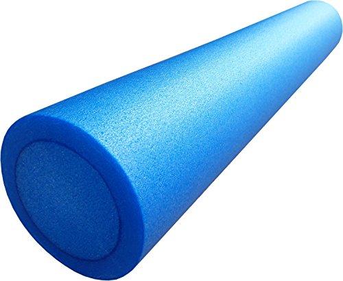 mediparts GmbH MEDDAX Pilates Rolle, Pilatesrolle Faszienrolle 15 x 90 cm Flexibler Hartschaum blau inkl....