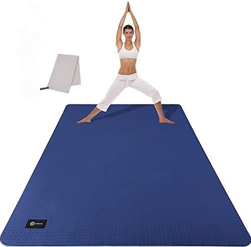CAMBIVO Yogamatte, Gymnastikmatte extra groß(183cm x 122cm x 6mm), rutschfeste TPE Fitnessmatte Sportmatte...