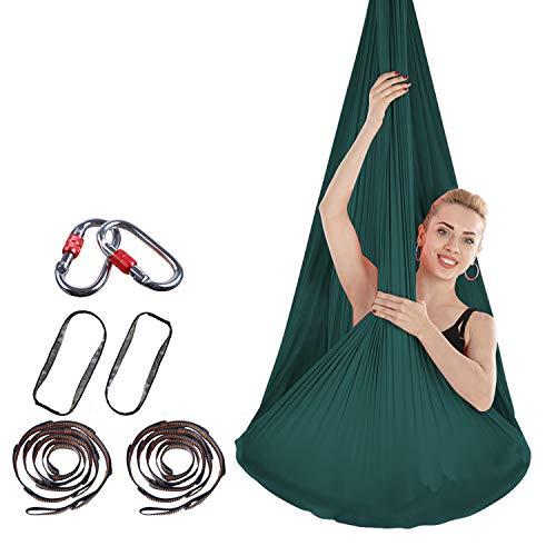 Brinny Aerial Yogatuch DIY Premium Equipment Yoga Tuch Elastische Hängematte Anti-Gravity-Yoga Set mit Stoff Zubehör 4m*2.8m