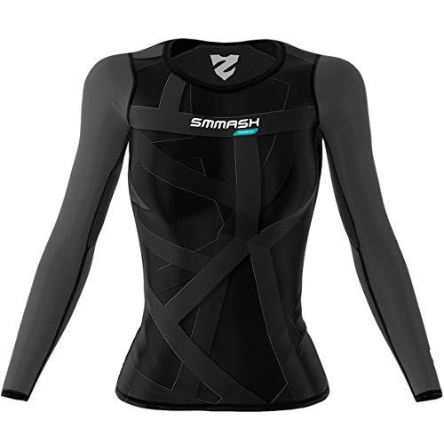 SMMASH Vitrage Damen Langarm Top, Atmungsaktiv und Leicht Compression Shirt, Longsleeve Damen, Gym Top...