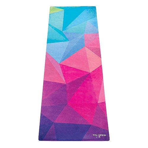 Yoga Design Lab Combo Yogamatte | rutschfest, Matte/Handtuch, Guter Halt bei viel Schweiß, Naturkautschuk | mit Tragegurt (Geo, 5.5mm)
