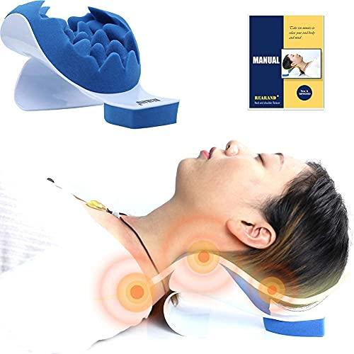 REARAND Nacken und Schulter Relaxer Nackenschmerz Linderung und Unterstützung und Schulter Relaxer Massage Traktion Kissen