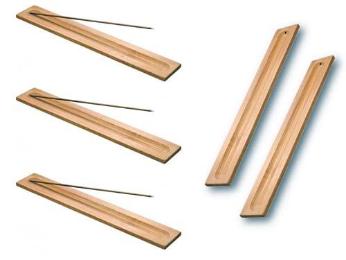 Anlising 5 Stücke Bambus Holz Räucherstäbchen Halter,Räucherstäbchenhalter,Weihrauchbrenner Aschefänger,Räucherstäbchenhalter Aus Holz,Räucher ZubehörHome Fragrance Decor,9,06 Zoll Lang (Holz Farbe)