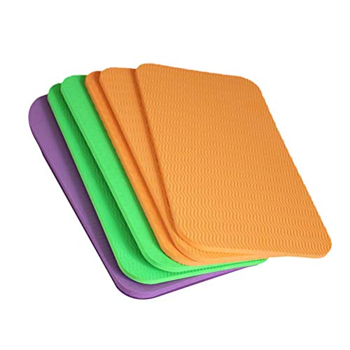 ABOOFAN 6 praktische Sitzpolster für Yoga, Kniekissen, dickes Sitzkissen, Kniekissen, für Sport, Outdoor, täglichen Gebrauch (zufällige Farbe 39 x 21 x 0,6 cm)