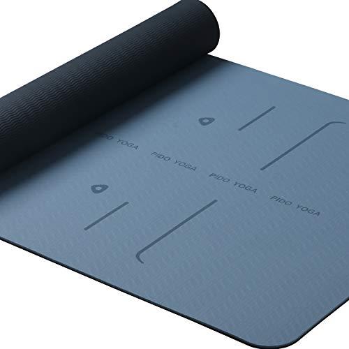 Richtlinien Yogamatte Ausrichtung Design Fitness Trainingsmatte 72 '' x 24 '' Zoll, Rutschfeste Reise...
