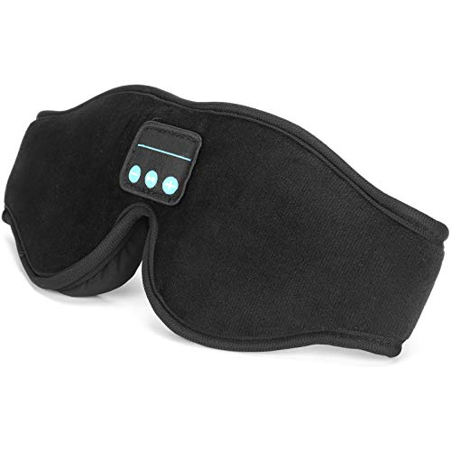 Musik-Augenmaske, Meditationszubehör, Schlafzubehör, 3D-Schlafmaske, kabellos mit USB-Kabel zum Schlafen zum Entspannen