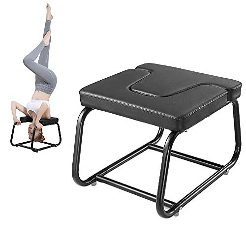 YOVYO Yoga Handstand Bench Yoga Kopfstandhocker, Verdickte, Bequeme Und Weiche Platte, Verdicktes Lackiertes Stahlrohr, Quadratfußrohr, Verteilte Schwerkraft, Tragende 250 Kg