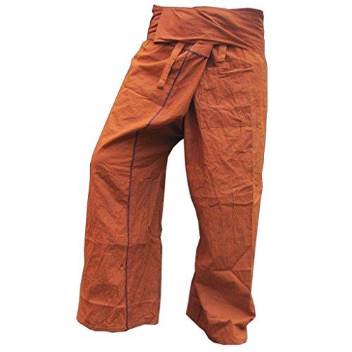 PANASIAM Fisherman Pants Stripe-Design, braun, XL